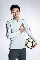 **EXCLUSIVE**Portrait of Chinese soccer player Song Boxuan of Tianjin Quanjian F.C. for the 2018 Chinese Football Association Super League, in Yancheng city, east China's Jiangsu province, 28 February 2018.