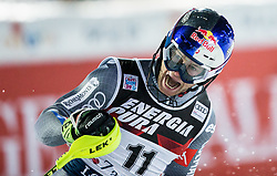 """Alexis Pinturault (FRA) reacts during the 2nd Run of FIS Alpine Ski World Cup 2017/18 Men's Slalom race named """"Snow Queen Trophy 2018"""", on January 4, 2018 in Course Crveni Spust at Sljeme hill, Zagreb, Croatia. Photo by Vid Ponikvar / Sportida"""