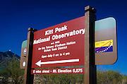 Kit Peak National Observatory, Tohono O'odham Indian Reservation, Arizona USA