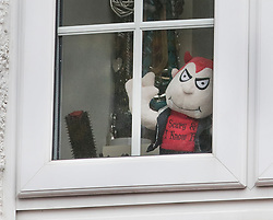 FILE IMAGE . Licensed to London News Pictures. 04/11/2017. London, UK. A Halloween themed devil soft toy is seen in an upstairs house (C) in Wimbledon where a seven year old girl was found seriously injured on Friday and has since died. Robert Peters has today pleaded guilty to the murder of his seven year old daughter.  Photo credit: Peter Macdiarmid/LNP