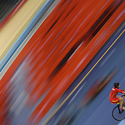 Chinese cyclists training at the Velodrome at Olympic Park, Stratford during the London 2012 Olympic games preparation.  London, UK. 20th July 2012. Photo Tim Clayton