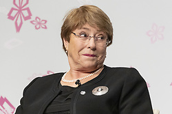 March 23, 2019 - Tokyo, Japan - Michelle Bachelet, United Nations High Commissioner for Human Rights and former President of Chile, attends the 5th World Assembly for Women (WAW!) in Tokyo. This year the WAW! in collaboration with the Women 20 (W20), one of the G20 engagement groups established to make recommendations to G20, invited female leaders from politics, business and society to discuss the roles of women in their countries and affiliations. The event is held from March 23 to 24 at the Hotel New Otani Tokyo. (Credit Image: © Rodrigo Reyes Marin/ZUMA Wire)