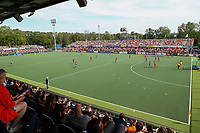 AMSTELVEEN -  overzicht stadion tijdens  de halve finale dames wedstrijd , Nederland-Belgie (3-1),  bij het EK hockey. Nederland plaatst zich voor de finale.   COPYRIGHT KOEN SUYK