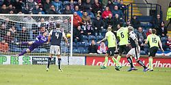 Raith Rovers Ryan Stevenson scoring their goal. Raith Rovers 1 v 1 Hibernian, Scottish Championship game played 18/2/2017 at Starks Park.