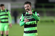 Forest Green Rovers Scott Laird(3) during the The FA Cup match between Forest Green Rovers and Exeter City at the New Lawn, Forest Green, United Kingdom on 2 December 2017. Photo by Shane Healey.