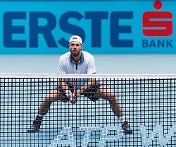 30.10.2016, Stadthalle, Wien, AUT, ATP Tour, Erste Bank Open, Finale, Doppel, im Bild Oliver Marach (AUT) // Oliver Marach of Austria during the doubles final match of Erste Bank Open of ATP Tour at the Stadthalle in Vienna, Austria on 2016/10/30. EXPA Pictures © 2016, PhotoCredit: EXPA/ Sebastian Pucher