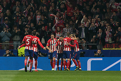 November 22, 2017 - Madrid, Madrid, Spain - Atletico de Madrid celebrates his first goal..during Atletico de Madrid won by 2 to 0 whit goals of Griezmann and Gameiro against Roma. (Credit Image: © Jorge Gonzalez/Pacific Press via ZUMA Wire)