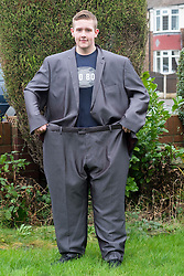 Joe Law of Hellaby South Yorkshire, who has lost 15 stone, wear his school Prom suit<br /> 24 January 2016<br />  Copyright Paul David Drabble<br />  www.pauldaviddrabble.co.uk