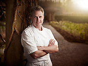Chef outside at Langdon Hall shot as a Environmental Portraiture on a PhaseOne