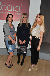 Left to right, SADIE FROST, JO WOOD and ZARA MARTIN at the 2012 Rodial Beautiful Awards held at The Sanderson Hotel, Berners Street, London on 6th March 2012.