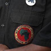 Members of the New Black Panther Party provided security of the stage area during a rally for the shooting of Trayvon Martin on Thursday, March 22, 2012 at Fort Mellon Park in Sanford, Florida. (AP Photo/Alex Menendez) Trayvon Martin rally in Sanford, Florida.