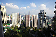 Hong Kong. View from a mid-levels appartment at Tregunter Path (100.000 HKD/month).