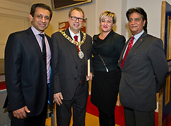 Pictured: Foysol Choudhury, MBE, Edinburgh and Lothians Regional Equality Council chair, Edinburgh Lord Provost Donald Wilson, Jodie Hannan, Drummond Comunity High School Head Teacher and Aham Khan , Edinbrugh and Lothians Regional Equality Council Vice Chair<br /> <br /> SNP Brexit minister Mike Russell spoke at an Edinburgh and Lothians Regional Equality Council event which aimed to facilitate discussion between service providers in the public and third sectors, and asylum seekers and refugees in order to hear about the circumstances and needs.<br /> <br /> Ger Harley   EEm 6 December 2016