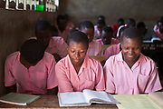 Year 8 at the Mari Mani school, Mombassa, Kenya.  The class is 12 to 17 year olds and they are candidates that are sitting their KCP exam in November. The school is supported by Wema, a NGO organisation supporting vulnerable children.  The school has 807 pupils and 16 teachers.