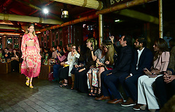 Models on the catwalk during the Peter Pilotto show for Fashion East London Fashion Week SS19 show held at Trader Vic's., London.