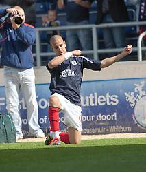 Falkirk's Farid El Alagui cele scoring their second goal..Falkirk 3 v 2 Ayr United, 5/5/2012..©Michael Schofield..
