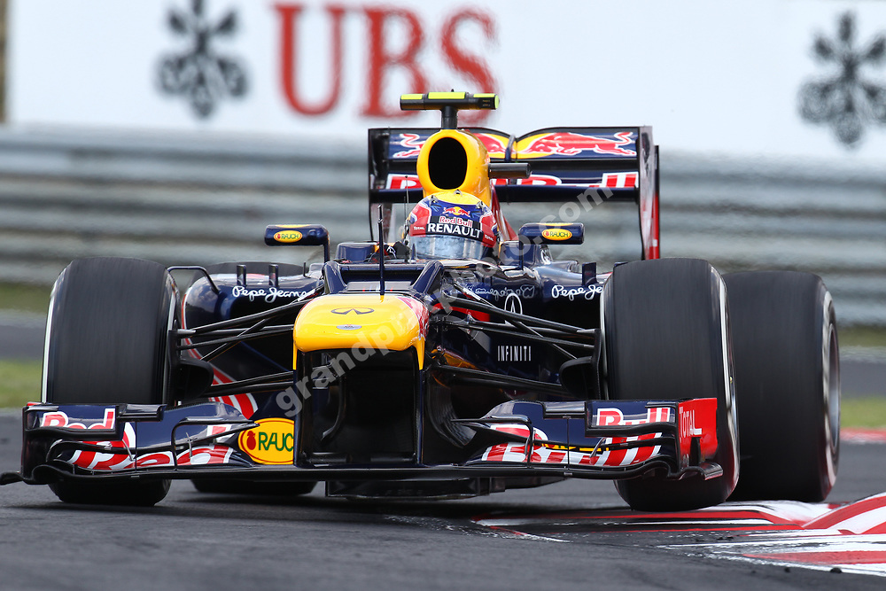 Mark Webber (Red Bull-Renault) during qualifying for the 2012 Hungarian Grand Prix at the Hungaroring outside Budapest. Photo: Grand Prix Photo