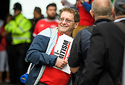 © Licensed to London News Pictures. 04/09/2018. London, UK. TONY GREENSTEIN, who was expelled form the Labour Party, joins pro Jeremy Corbyn protestors outside Labour Party headquarters in London ahead of a National Executive Committee meeting. The Labour Party's ruling body is expected to vote on whether to adopt, in full, the IHRA (International Holocaust Remembrance Alliance) definition of anti-Semitism. Photo credit: Ben Cawthra/LNP