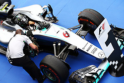 GP von Japan 2016 in Suzuka / 091016<br /> <br /> ***Formula One Grand Prix of Japan on October 9, 2016 in Suzuka.***<br /> <br /> GP von Japan 2016 in Suzuka / 091016<br /> <br /> ***Formula One Grand Prix of Japan on October 9, 2016 in Suzuka.***<br /> <br /> Race winner Nico Rosberg (GER) Mercedes AMG F1 W07 Hybrid in parc ferme.<br /> 09.10.2016. Formula 1 World Championship, Rd 17, Japanese Grand Prix, Suzuka, Japan, Race Day.<br />  - www.xpbimages.com, EMail: requests@xpbimages.com - copy of publication required for printed pictures. Every used picture is fee-liable. © Copyright: Bearne / XPB Images