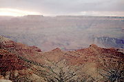 overhead view of canyon at dusk/dawn