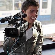 NLD/Amsterdam/20080319 - Presentatie lingerielijn Yolanthe Cabau van Kasbergen, Jan Smit met camera