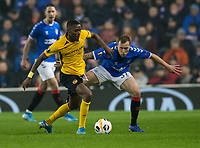 Football - 2019 / 2020 UEFA Europa League - Group G: Rangers vs. BSC Young Boys<br /> <br /> Christopher Martins Pereira of Young Boys FC vies with Scott Arfield of Rangers, at Ibrox Stadium.<br /> <br /> COLORSPORT/BRUCE WHITE