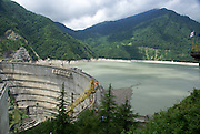 Georgia, Svaneti region, The Inguri (Enguri) river and dam