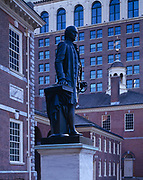 Statue of George Washington, Independence Hall and Congress Hall, Independence National Historical Park, Philadelphia, Pennsylvania.