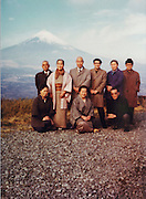 group posing with Mounth Fuji in the background Japan 1980s