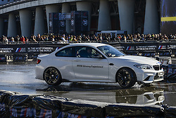 November 12, 2016 - Milan, Italia, Italy - EICMA 2016 - International Fair for Bicycle and Motorcycle, held in Milan, Italy on 8 to 13 November 2016. In picture is seen  Drifting by Bmw team. (Credit Image: © Roberto Silvino/NurPhoto via ZUMA Press)