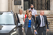 """US actress Amber Heard leaves the High Court in London on Monday, July 27, 2020. She attended a hearing in Johnny Depp's libel case against the publishers of The Sun and its executive editor, Dan Wootton.<br /> 57-year-old Depp is suing the tabloid's publisher News Group Newspapers (NGN) over an article which called him a """"wife-beater"""" and referred to """"overwhelming evidence"""" he attacked Ms Heard, 34, during their relationship, which he strenuously denies. (VXP Photo/ Vudi Xhymshiti)"""