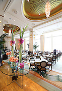 The dining room at The Lobby restaurant in the Peninsula Hotel on Wednesday, July 17, 2013. (Brian Cassella/Chicago Tribune) B583063981Z.1 <br /> ....OUTSIDE TRIBUNE CO.- NO MAGS,  NO SALES, NO INTERNET, NO TV, CHICAGO OUT, NO DIGITAL MANIPULATION...