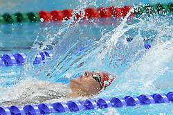 Gemma Stopforth of Great Britain during the Women's 100m Backstroke final  held at the aquatics centre at Olympic Park  in London as part of the London 2012 Olympics on the 30th July 2012.Photo by Ron Gaunt/SPORTZPICS