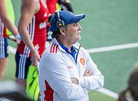 AMSTELVEEN -  coach Mark Hager (Eng) tijdens   de wedstrijd dames , Ierland-Engeland (1-5) bij het  EK hockey , Eurohockey 2021.COPYRIGHT KOEN SUYK