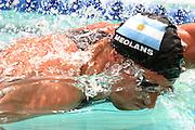 Belo Horizonte_MG, Brasil...Nadadora Jose Moleans, da Argentina, na prova 50m livres, durante a  ultima etapa da Copa do  Mundo de Natacao 2006 em Belo Horizonte...The swimmer Jose Moleans, of Argentina, in the 200m medley, during the last stage of the Swimming World Cup 2006 in Belo Horizonte...Foto: LEO DRUMOND / NITRO.