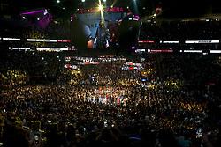 August 26, 2017 - Las Vegas, NEVADA, UNITED STATES OF AMERICA - Mayweather walks to the ring prior to his super welterweight boxing match against McGregor. on August 26, 2017 at T-Mobile Arena in Las Vegas, Nevada. .ARMANDO ARORIZO. (Credit Image: © Armando Arorizo/Prensa Internacional via ZUMA Wire)