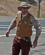 Coulterville, California, July 03, 2010.Coulterville Claim Jumpers.Gun fighter: Sheriff..Photo by Al Golub/Golub Photography