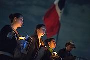 """Protestas por la desaparición forzada de 43 estudiantes de la Escuela Normal Rural """"Raúl Isidro Burgos"""" ocurrida el 26 de septiembre de 2014.<br /> Zócalo, Ciudad de México, 5 de noviembre de 2014. (Foto: Prometeo Lucero)"""