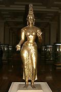 Cast bronze gilded figure of Tara from Sri Lanka, 8th century AD. The Buddhist goddess Tara was the consort of Avalokiteshvara, the bodhisattva of compassion. Mythology Buddhism