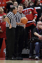 27 January 2018:  Tom O'Neill and Ray Natili during a College mens basketball game between the Valparaiso Crusaders and Illinois State Redbirds in Redbird Arena, Normal IL