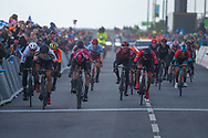 Alexander Kamp of Riwal Readynez Cycling Team wins stage 3t of the Tour de Yorkshire from Bridlington to Scarborough, , United Kingdom on 4 May 2019.