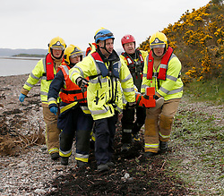 A multi agency exercise at Oban airport involving airport rescue services, Strathclyde Fire and Rescue Service, Scottish Ambulance Service, Coastguard and the RNLI. The exercise was a simulation of a light plane crashing into the sea on approach to Oban airport..... (c) Stephen Lawson | Edinburgh Elite media