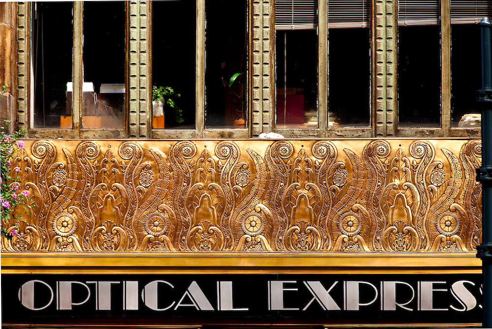 A highly detailed bronze frieze depicting evolution encircles the second floor of the Chanin Building, a now oft-overlooked Art Deco skyscraper that was briefly, in the late 1920s, the tallest building in the world.