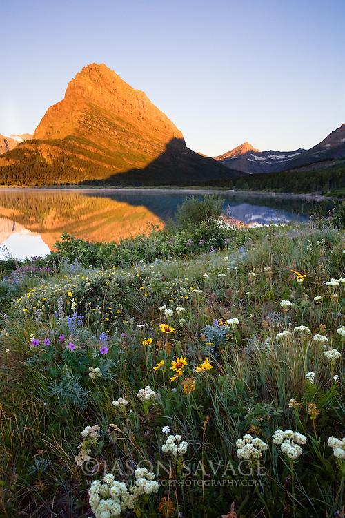 Swiftcurrent Lake in Many Glacier, Glacier National Park