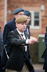 Veterans take part in a 2011 local Remembrance Day Parade at Chapeltown Sheffield South Yorkshire. This years parade also marks the 90th Anniversary of the Royal British Legion and was particularly well attended...13 November 2011. Image © Paul David Drabble