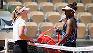Sofia Kenin and Sloane Stephens of the United States after practice ahead of the Roland-Garros 2021, Grand Slam tennis tournament, Qualifying, on May 28, 2021 at Roland-Garros stadium in Paris, France - Photo Rob Prange / Spain ProSportsImages / DPPI / ProSportsImages / DPPI