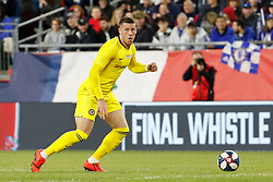 May 15, 2019 - Foxborough, MA, U.S. - FOXBOROUGH, MA - MAY 15: Chelsea FC midfielder Ross Barkley (8) loos for options during the Final Whistle on Hate match between the New England Revolution and Chelsea Football Club on May 15, 2019, at Gillette Stadium in Foxborough, Massachusetts. (Photo by Fred Kfoury III/Icon Sportswire) (Credit Image: © Fred Kfoury Iii/Icon SMI via ZUMA Press)