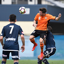 BRISBANE, AUSTRALIA - NOVEMBER 12: Shannon Brady of the Roar heads the ball during the round 1 Foxtel National Youth League match between the Brisbane Roar and Melbourne Victory at Spencer Park on November 12, 2016 in Brisbane, Australia. (Photo by Patrick Kearney/Brisbane Roar)
