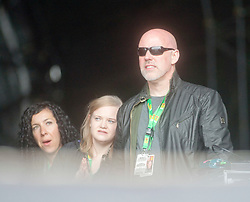 T in the Park creator Geoff Ellis watches Nicola Benedetti opens the main stage on Sunday at T in the Park 2012, held at Balado, in Fife, Scotland.