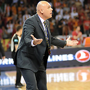 Fenerbahce Ulker's coach Neven SPAHIJA during their Turkish Basketball league Play Off Final third leg match Galatasaray between Fenerbahce Ulker at the Abdi Ipekci Arena in Istanbul Turkey on Thursday 09 June 2011. Photo by TURKPIX